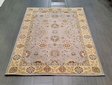 CHINESE,TRADITIONAL,FLORAL,90% WOOL RUG,224 x160CM,BLUE,GREEN,YELLOW,IVORY,BEIGE