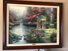 Framed Thomas Kinkade Garden of Prayer 30x40 S/N COA Limited Edition Canvas Oil