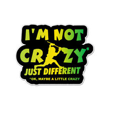 "Crazy Different Lacrosse Goalie Vinyl Car Sticker Decal 4"" x 4"""