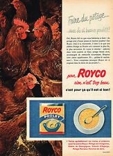 PUBLICITE ADVERTISING 015  1957  ROYCO  potage POULET AU VERMICELLE