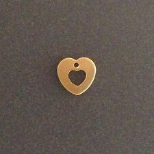 100pcs Gold filled heart charms tiny cut out heart 7.5m jewellery findings gold