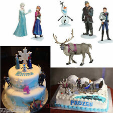 6 pcs Frozen figure doll Princess Anna, Elsa, Hans, Olaf playset cake toppers