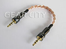 "chf00 12cm 5"" Headphone Amp Aux OFC Cable 3.5mm Stereo Jack Mac Mini iPhone"