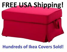 Ikea EKTORP Footstool (Ottoman) Slipcover Cover Idemo Red 501.667.76 NEW in Box