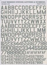 Print Scale 1/32 USAF Modern Stencil Letters & Numbers in Grey # 32002