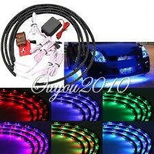 "LED Undercar Underbody Underglow Kit Neon Strip Car Body Glow Light 36"" X 24"" X2"