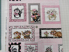 """LORALIE DESIGNS""""FANCY CATS """"THE PANEL 16 DIFFERENT PICS IN ALL  24"""" PANEL"""