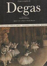 classici dell arte rizzoli-opera completa del degas altra edizione