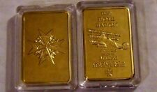 German Prussian Red Baron Fighter Blue Max Imperial War Royal Gold Coin Bar Case