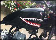 Flying tigers Shark Teeth Eyes Retro Sticker P40 Warhawk Small motorbike Bobber