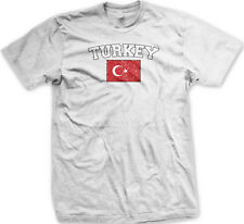 Turkey Country Flag Turkish Türkiye Pride Football Soccer Mens T-shirt
