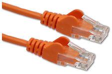 Cat5e RJ45 10/100 Ethernet Network cat5 Cable Cat5 Router Lead Short 25cm ORANGE