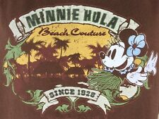 Minnie Mouse Hula Beach Couture Disneyland Resort Women's XXL Brown