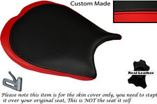 RED & BLACK DESIGN 2 CUSTOM FITS DUCATI 1198 848 1098 FRONT LEATHER SEAT COVER
