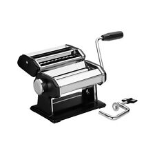 NERO PASTA MAKER MACHINE Chrome CORPO IN ACCIAIO INOX LAMA CON MANICO MANUALE