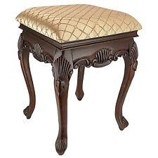 KS51101 - Madame Bouvier Boudoir Stool - Carved Hardwood Historical Replica