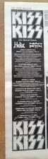 KISS /HELIX/HEAVY PETTIN 1983 TOUR UK Poster size Press ADVERT 16x4 inches