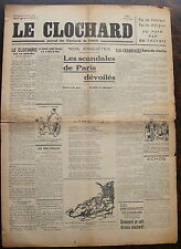 LE CLOCHARD, journal des clochard de Paris, dimanche 22 mai 1938, numero 3.