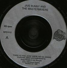 "JIVE BUNNY over to you john/the night i saw the bunny jive MFD012 uk 7"" WS VG/"
