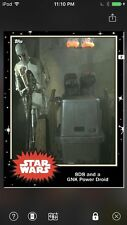 Topps Star Wars Digital Card Trader Black 8D8 & Power Droid Base 4 Variant