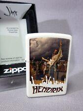 """Zippo  """"JIMI HENDRIX""""  - WOODSTOCK - WHITE MATTE - NEU & ovp - #364"""