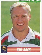 065 NEIL BACK  LEICESTER TIGERS STICKER PREMIER DIVISION RUGBY 1998 PANINI