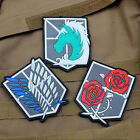 3 PCS Attack on Titan-The Survey Corps Badge Freedom 3D PVC Rubber Velcro Patch