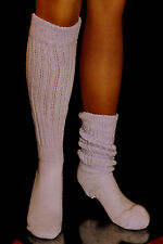 Lilac Slouch Knee to Calf Socks Heavy large Hooters Uniform Lt Purple sexy