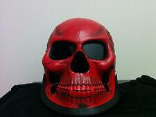 Large Red Skull Man 3D Motorcycle NOVELTY Skeleton Helmet Biker Cruiser NEW