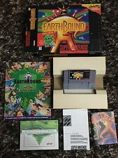 Snes Earthbound CIB Complete W/ Scratch N Sniffs ***UPDATED MINT CART***