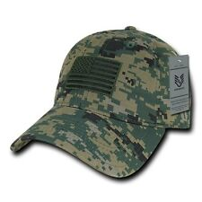 Camo USA US American Flag United States America Marines Polo Baseball Hat Cap