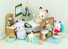 Sylvanian Families Country Bathroom Set Furniture A Lot Of Accessories, Kids Fun