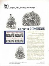 # 162 20c LIBRARY OF CONGRESS # 2004 USPS COMMEMORATIVE STAMP PANEL