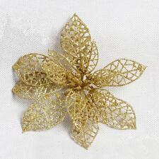 Gold Flower Simplicity Christmas Tree Ornament Xmas Wedding Party Decoration Sp