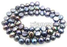 "SALE Small 6-7mm Natural Black Freshwater BAROQUE Pearl Loose Beads 14""-los455"