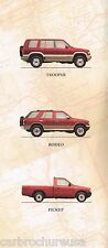 1995 ISUZU Brochure: TROOPER, PickUp Truck, RODEO, 4WD Pick Up, Limited, LS, S,