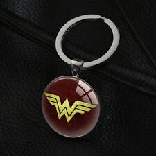 1PC Wonder Woman Keyrings Silver Pendant Metal Car Key Ring Bag Keychain XK-138