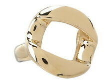 NWT Marc By Marc Jacobs Womens Link To Katie Chunky Ring Gold Tone M0001190 Sz 8