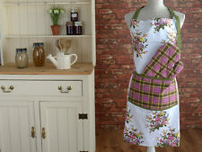 Katie Alice Highland Fling Tartan Floral Shabby Chic Apron & Oven Glove Set