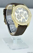 NWT Ladies Watch GUESS Brown Leather New U0056L2