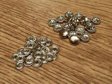 pack of 20 11mm self cover button metal buttons - customise with your own fabric