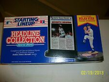 NOLAN RYAN Starting Lineup Headline Collection Rangers w/ Frame and News article