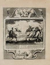 1728 Kupferstich Bibel Biblia Buch mit den sieben Siegeln Apokalyptische Reiter