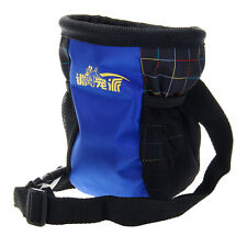 Dog Puppy Pet Snack Obedience Training Food Nylon Treat Pouch Bag Sack Blue