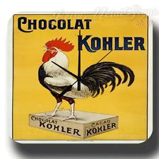 Chocolate Chocolat Kohler VINTAGE KITCHEN METAL TIN SIGN WALL CLOCK