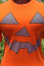 Halloween Pumpkin Costume Orange Graphic Casual Men's T-Shirt Size Small