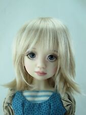 Monique BETH Wig Milk Blonde Size 7-8 MSD BJD shown on Ruby by Liz Frost