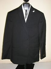 $895 New Jos A Bank JOSEPH Black stripe pattern  suit 37 R 31 W  Slim fit