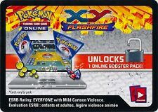 10 x XY Flasfire Unused Booster Pack Code Card (Pokemon TCGO)!!!