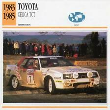 1983-1985 TOYOTA CELICA TCT Racing Classic Car Photo/Info Maxi Card